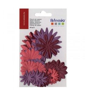 Fleurs en papier oldies 24pcs Artémio