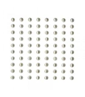 Perles adhésives couleur ivoire 5mm Artémio