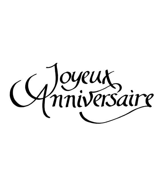 """Tampon en bois """"Joyeux Anniversaire"""" Artémio"""