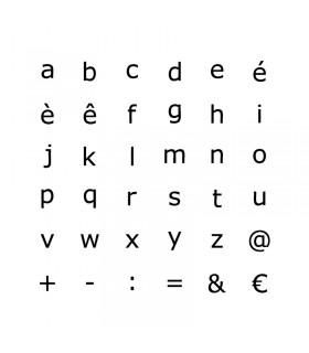 Tampons en bois Alphabet miniscules Artémio