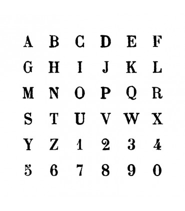 Tampons en bois Alphabet Majuscules Artémio