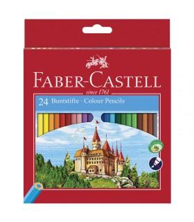 24 Crayons Couleur Castle Faber-Castell