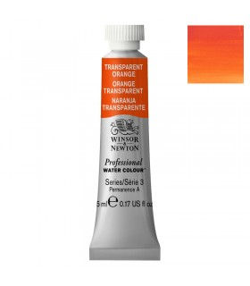 Peinture aquarelle W&N Orange Transparent 650 tube 5ml