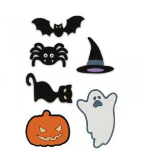 6 Stickers 3D Halloween en caoutchouc Artémio