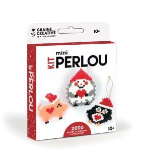 kit mini perlou Animaux de Noël Graine Créative