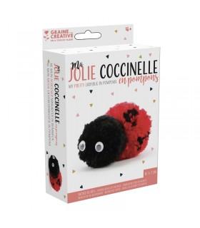 Kit Pompons Ma jolie coccinnelle Graine Créative