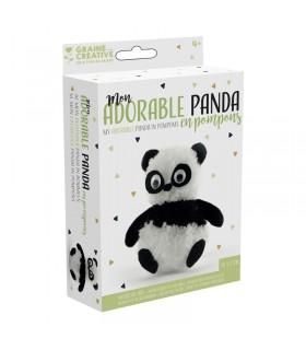 Kit pompons Mon adorable panda Graine Créative