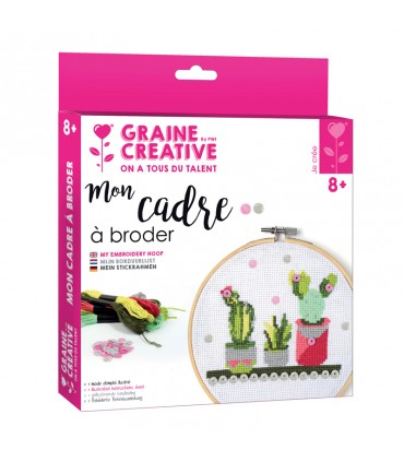 Kit Mon cadre à broder Cactus Graine créative