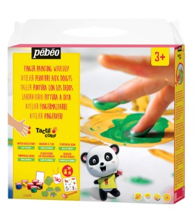 Atelier peinture au doigts Tactil color Pébéo