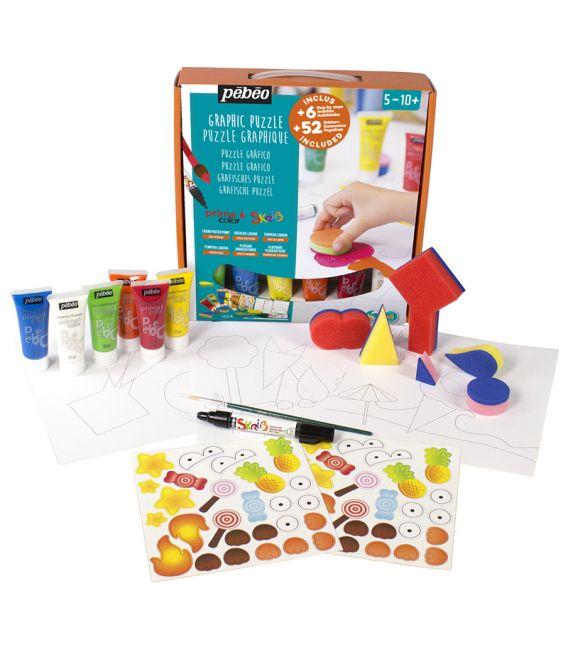 kit peinture graphique puzzle Primacolor Pébéo