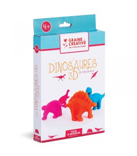 Kit DIY Pâte à modeler Dinosaures 3D Graine Créative