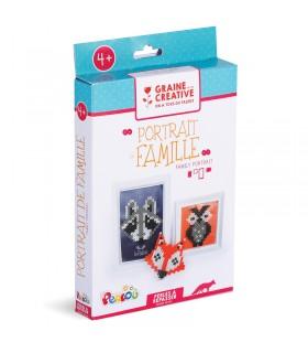 Kit DIY Perles à repasser Portrait de famille Graine Créative