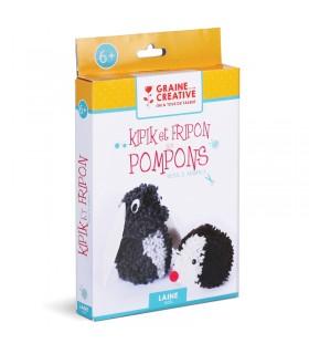 Kit DIY Pompons Kipik et Fripon Graine Créative