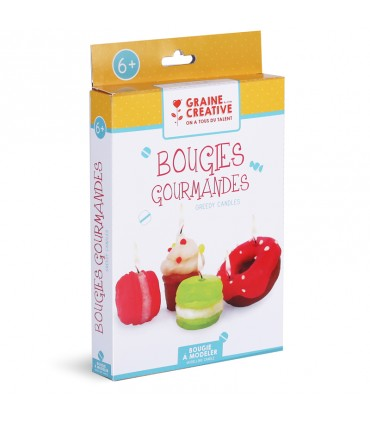 Kit DIY Bougies Gourmandes Gaine Créative