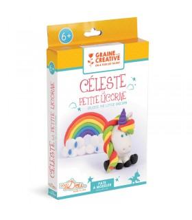 Kit DIY Pâte à modeler Celeste la licorne Graine Créative