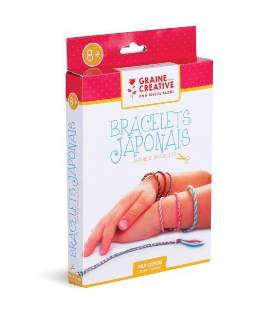 Kit DIY Fils côton bracelets Japonais Graine Créative