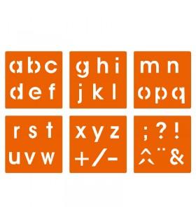 6 pochoirs pour enfants alphabet & ponctuation Graine créative