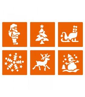 6 pochoirs pour enfants Noël Graine créative