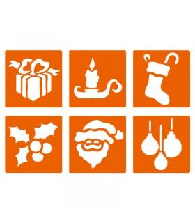 6 pochoirs pour enfants Noël 2 Graine créative