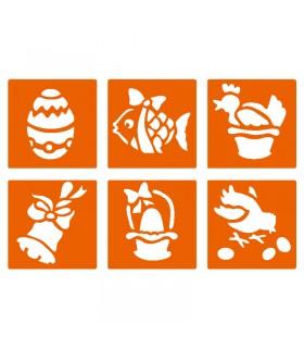 6 pochoirs pour enfants Pâques Graine créative