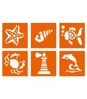 6 pochoirs pour enfants Mer Graine créative