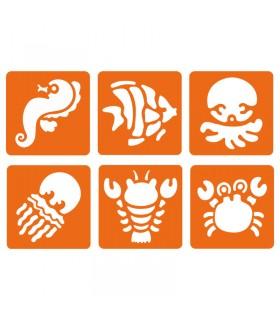 6 pochoirs pour enfants Monde aquatique Graine créative