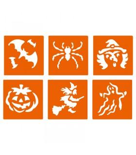6 pochoirs pour enfants Halloween Graine créative