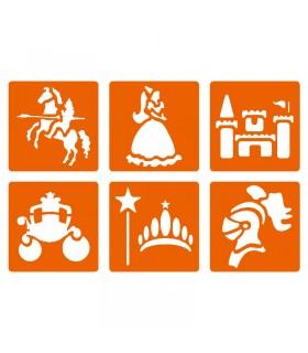 6 pochoirs pour enfants Princesse et Chevalier Graine créative