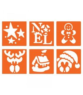 6 pochoirs pour enfants Noël 3 Graine créative