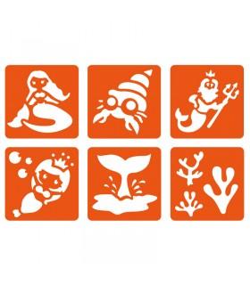 6 pochoirs pour enfants Sirene Graine créative