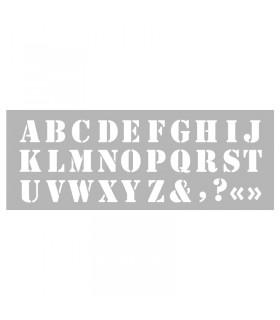 Pochoir home déco Alphabet n°1 15x40cm Graine créative