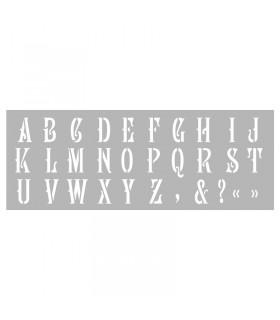 Pochoir home déco Alphabet n°3 15x40cm Graine créative