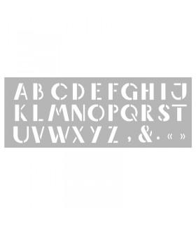 Pochoir home déco Alphabet n°4 15x40cm Graine créative