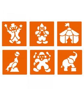6 pochoirs pour enfants Cirque Graine créative