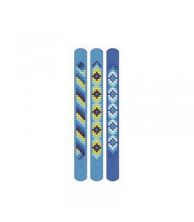 Broderie diamant 3 bracelets Motifs bleu Dotzies
