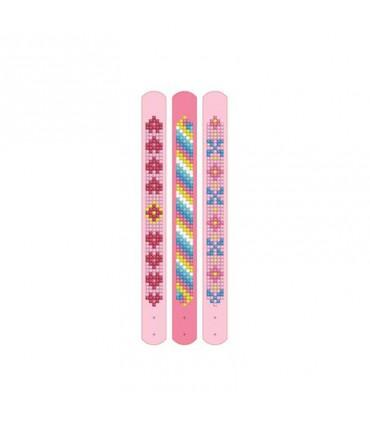 Broderie diamant 3 bracelets Motifs roses Dotzies