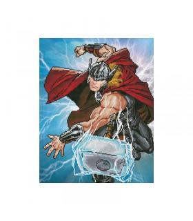 Broderie diamant Camelot Dotz Marvel Thor