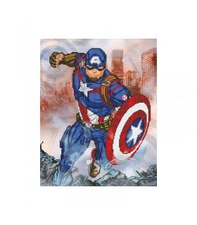 Broderie diamant Camelot Dotz Marvel Captain America