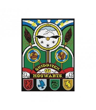 Broderie diamant Camelot Dotz Harry Potter Quidditch