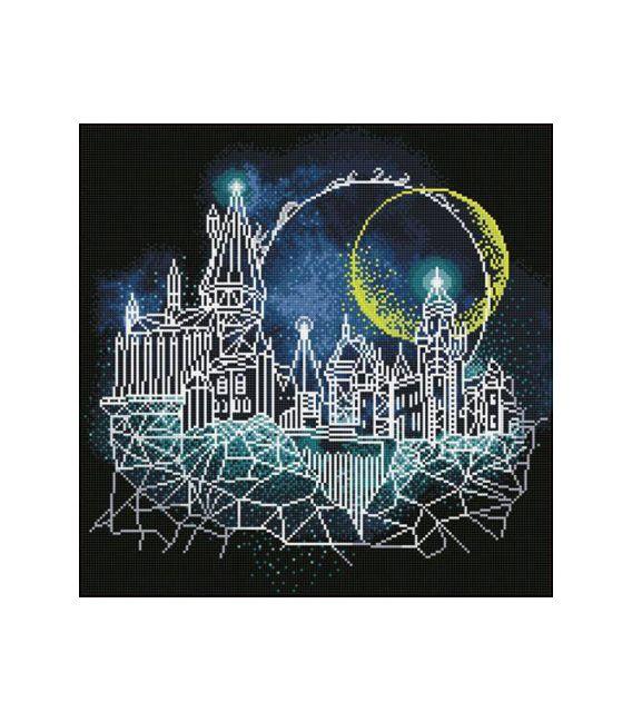 Broderie diamant Camelot Dotz Harry Potter Moon Over Hogwarts