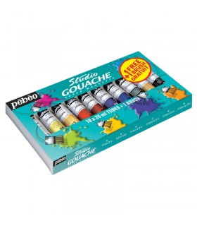 Kit Studio Gouache 10X20ml+Brush