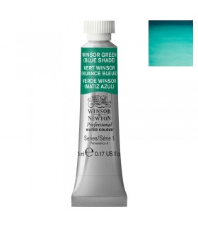 Peinture aquarelle W&N  Vert Winsor Nuance Bleue 719 tube 5ml