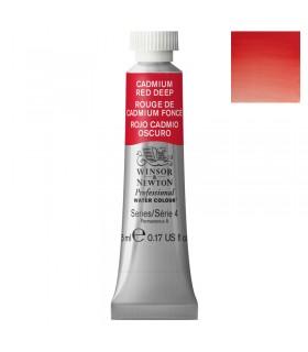 Peinture aquarelle W&N  Rouge de Cadmium Foncé 097 tube 5ml