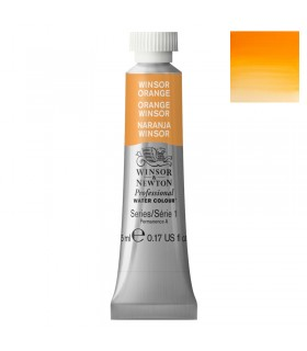 Peinture aquarelle W&N Orange Winsor 724 tube 5ml