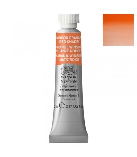 Peinture aquarelle W&N Orange Winsor Nuance Rouge 723 tube 5ml