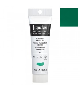 Peinture acrylique Liquitex Heavy body 59ml Vert emeraude transparent imitation 327
