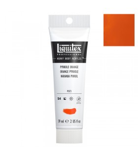 Peinture acrylique Liquitex Heavy body 59ml Orange pyrrole 323