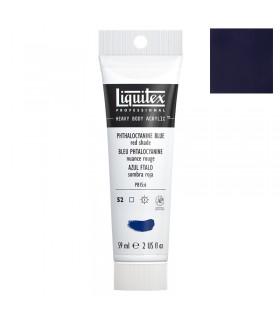 Peinture acrylique Liquitex Heavy body 59ml Bleu phtalocyanine nuance rouge 314