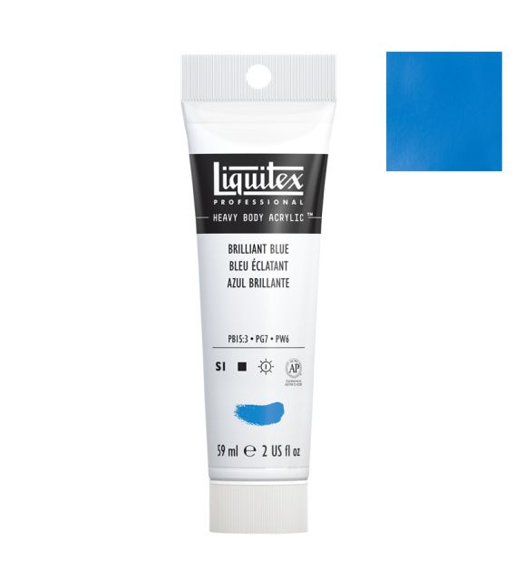Peinture acrylique Liquitex Heavy body 59ml bleu brillant 570