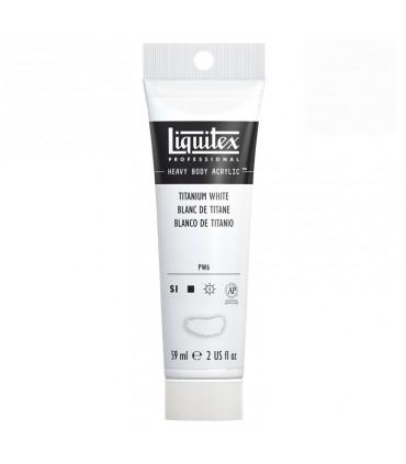 Peinture acrylique Liquitex Heavy body 59ml Blanc de titane 432